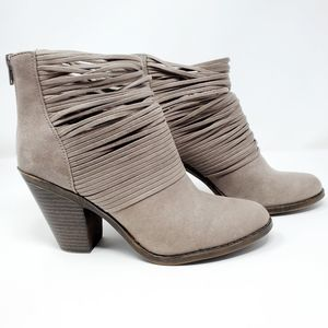 Fergalicious Wicket Gray Bootie Boots by Fergie